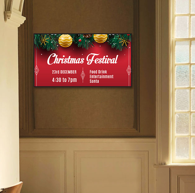 christmas announcement on digital signage