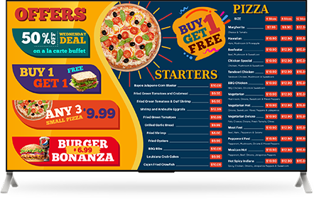 delicious pizza images on screen