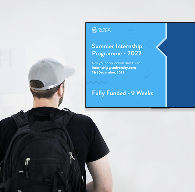 educate better with digital signage