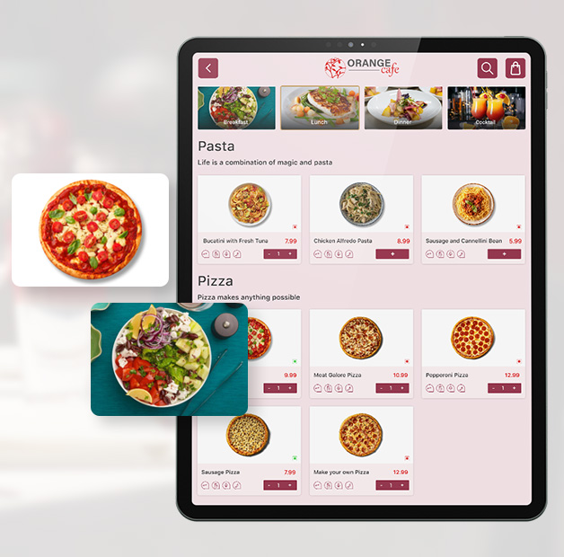great meal starts with digital menu