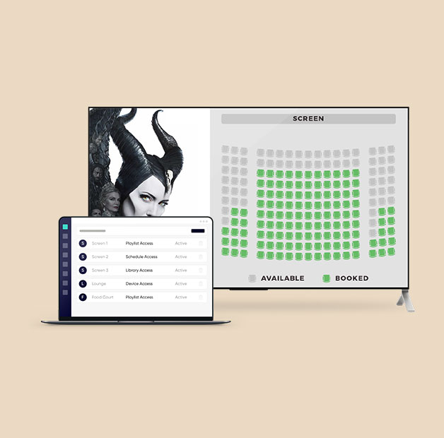 show movie ticket availability on digital signage