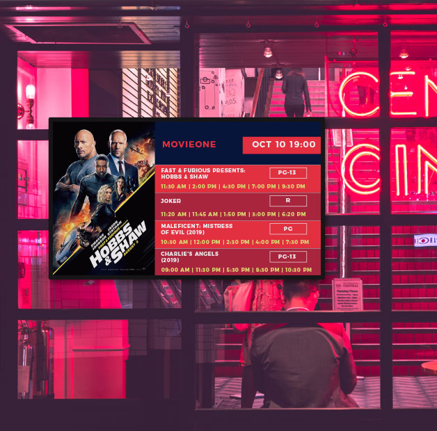 theater digital signage
