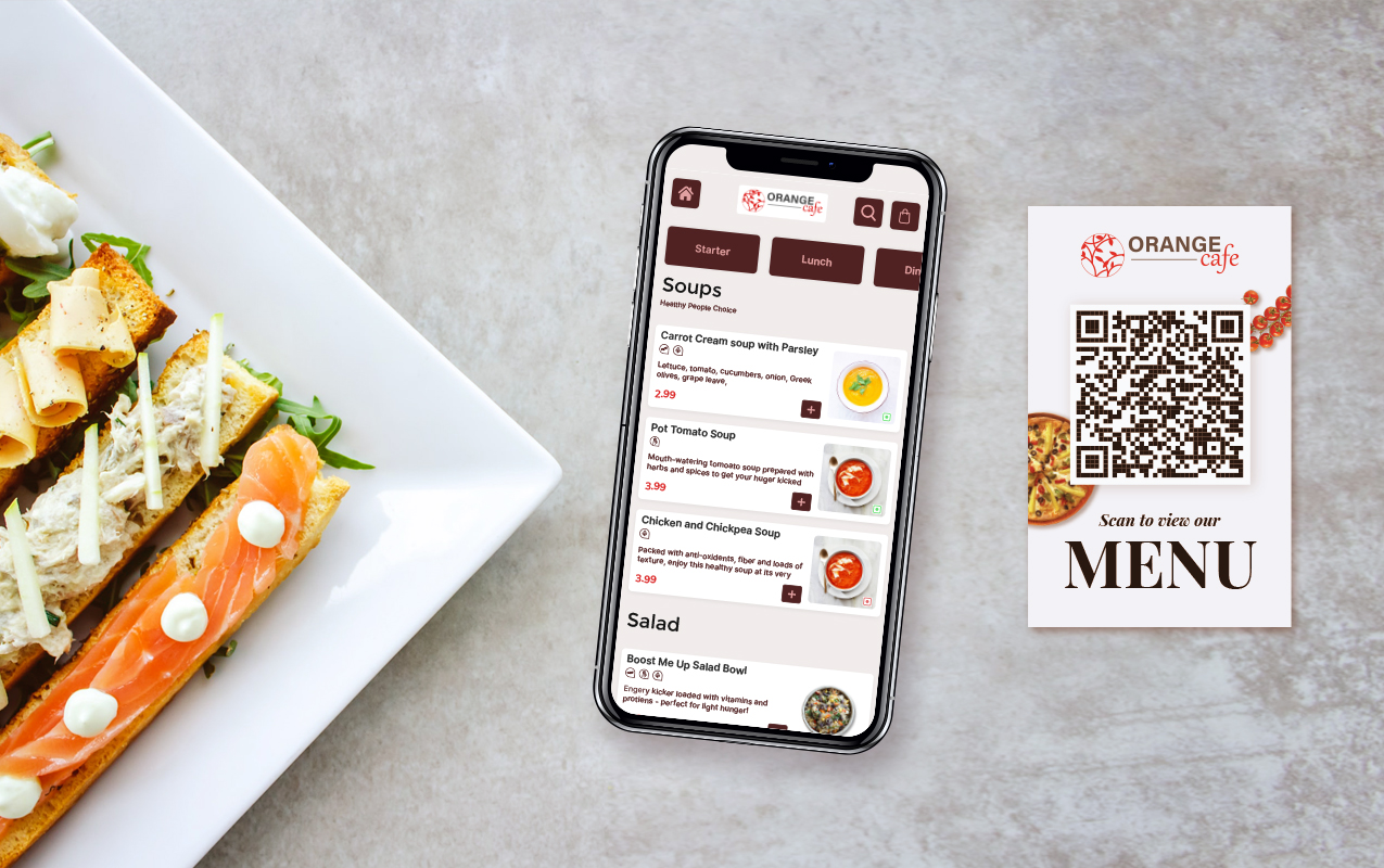 Qr Code Based Interactive Digital Menu And Ordering System For Restaurant