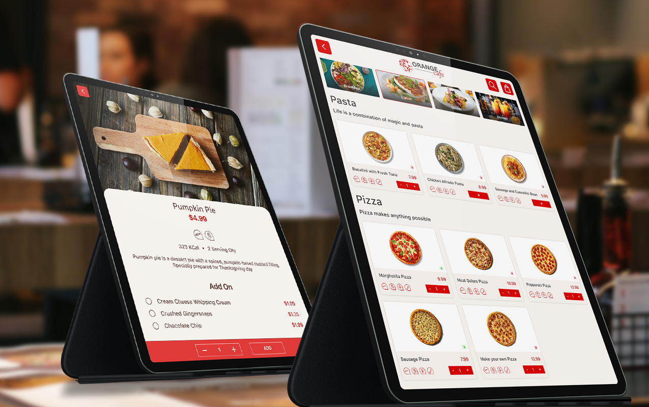 fine dine digital signage solution